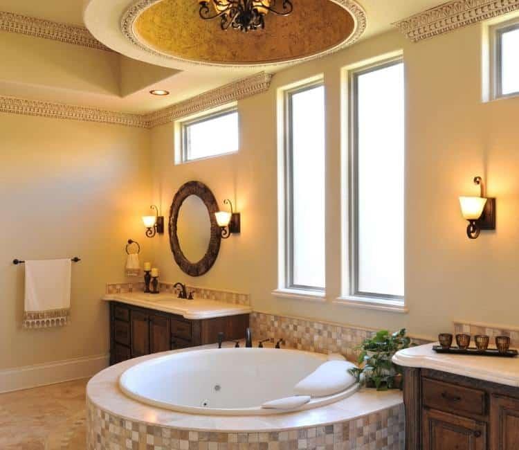 תמונה של אמבטיה יוקרתית בעיצוב מרשים